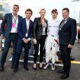 Charlene de Monaco est allée à la rencontre de Charles Leclerc au Grand Prix d'Abu Dhabi le 25 novembre 2018.