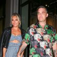 Robbie Williams et sa femme Ayda Field au restaurant Catch à West Hollywood, le 14 septembre 2018