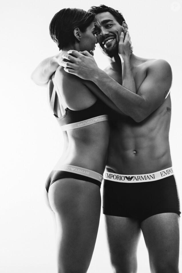 Fabio Fognini et sa femme  Flavia Pennetta  pour la campagne  Emporio Armani Underwear  .