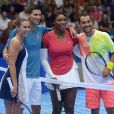 "Flavia Pennetta, Novak Djokovic, Serena Williams, Fabio Fognini - Match Caritatif de tennis ""Djokovic and Friends"" au forum Assago à Milan, Italie, le 21 septembre 2016."