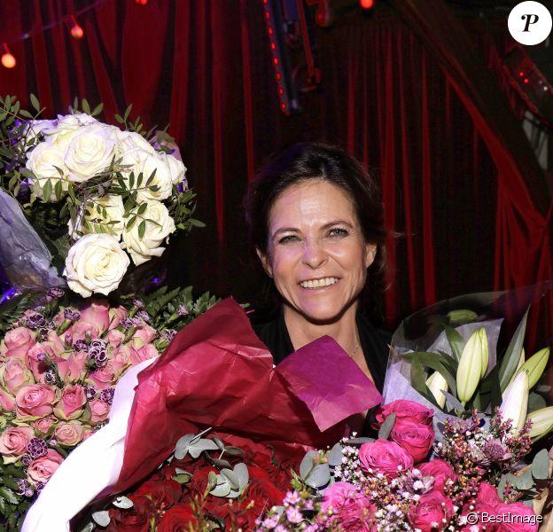 Exclusif - Charlotte Valandrey à son concert et anniversaire (50 ans) au Zèbre de Belleville à Paris. Le 29 novembre 2018 © Cédric Perrin / Bestimage