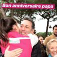 Image de la story Instagram de Pauline Ducruet pour l'anniversaire de son père Daniel Ducruet, le 27 novembre 2018. Un moment survenu en mars 2018 au départ du Rallye Aïcha des Gazelles.