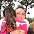 Daniel Ducruet avec sa fille Pauline Ducruet lors du départ de celle-ci pour le Rallye Aïcha des Gazelles le 17 mars 2018 à Monaco. © Bruno Bebert/Bestimage
