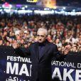 Martin Scorsese lors de son hommage sur la place Jemaa el-Fna lors du 17ème Festival International du film de Marrakech, le 3 décembre 2018. © Denis Guignebourg/Bestimage
