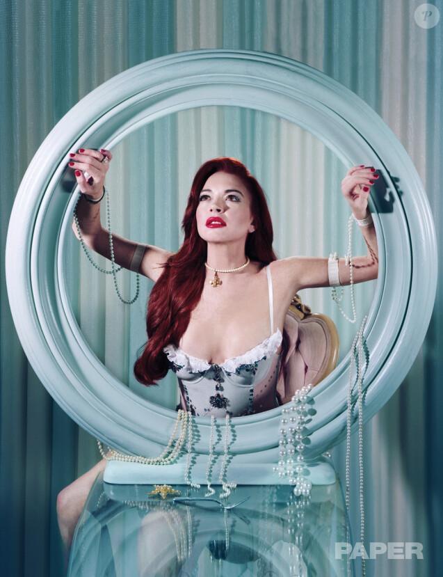 Lindsay Lohan pour le magazine Paper. Photo par Claire Valentine.