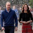 Le prince William, duc de Cambridge, et Catherine Kate Middleton, duchesse de Cambridge, arrivent à une fête de Noël pour le personnel de la RAF (Royal Air Force) Coningsby et Marham à Londres le 4 décembre 2018.