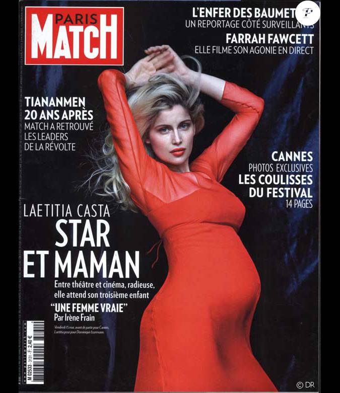 laetitia casta en couverture de paris match. Black Bedroom Furniture Sets. Home Design Ideas
