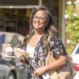 Exclusif - Laila Ali est allée acheter des cafés à emporter chez Coffee Bean à Calabasas, le 21 mai 2018.