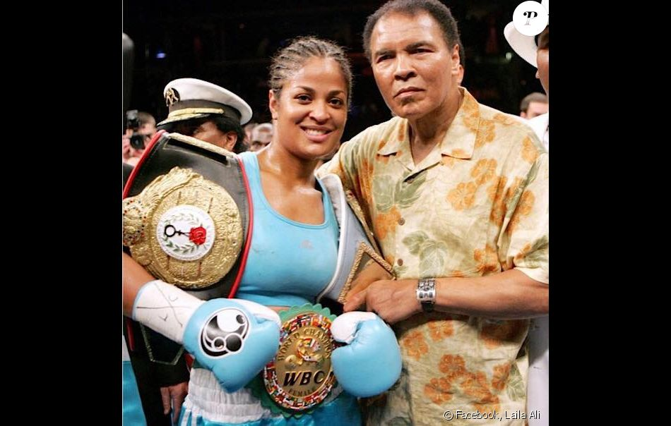 Laila Ali et son père Mohamed Ali