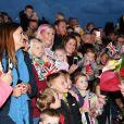Le prince William et Catherine (Kate) Middleton se rendent sur la base militaire de la Royal Air Force (RAF) d'Akrotiri, à Chypre, pour rencontrer les soldats, les familles résidant sur la base, le personnel de la station et des membres de la communauté locale. Le 5 décembre 2018.