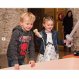 Le prince Jacques et la princesse Gabriella de Monaco lors de leur 4e anniversaire le 10 décembre 2018 au palais princier à Monaco. Photo du compte Instagram de la princesse Charlene.