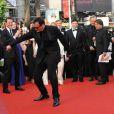 Quentin Tarantino s'éclate sur le tapis rouge du Palais des Festivals