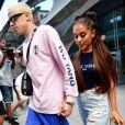 Ariana Grande et son fiancé Pete Davidson se rendent au concert Amazon Music Unboxing Prime Day à New York, le 11 juillet 2018