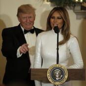 Melania Trump divine mais expéditive au Noël de la Maison Blanche