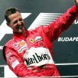 Michael Schumacher remporte le Grand Prix de Hongrie le 16 août 2004.