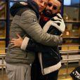 """Exclusif - Matthieu Delormeau, Cyril Hanouna arrivent à l'aéroport de Kittilä, Finlande, le 29 novembre 2018. L'équipe de l'émision """"Touche Pas à Mon Poste !"""" sur le tournage du prime spécial """"Baba en Laponie: à la recherche du Père Noël"""". Diffusion le 19 décembre à partir de 21h. © Sébastien Valiela/Bestimage"""