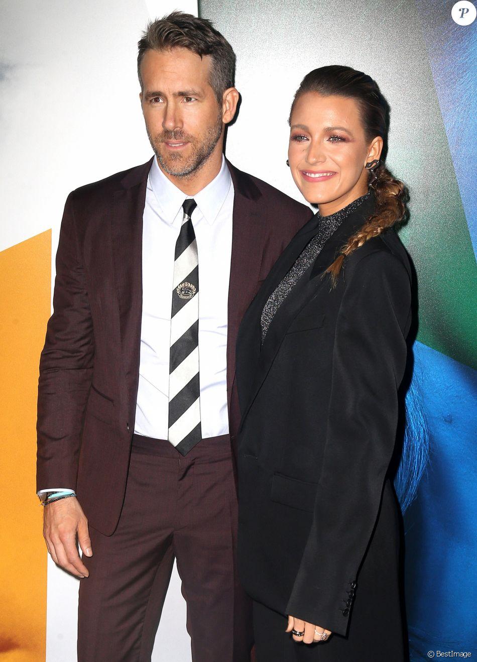 """Ryan Reynolds et Blake Lively à la première du film """"L'Ombre d'Emily"""" à New York le 10 septembre 2018."""