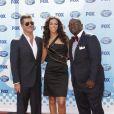 Simon Cowell, Terri Seymour et Randy Jackson à la grande finale d' American Idol .