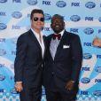 Simon Cowell et Randy Jackson à la grande finale d' American Idol .
