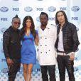 Fergie et les Black Eyed Peas à la grande finale d' American Idol .