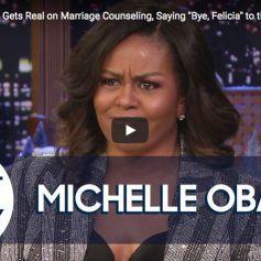 Michelle Obama dans l'émission de Jimmy Fallon, le 18 décembre 2018.