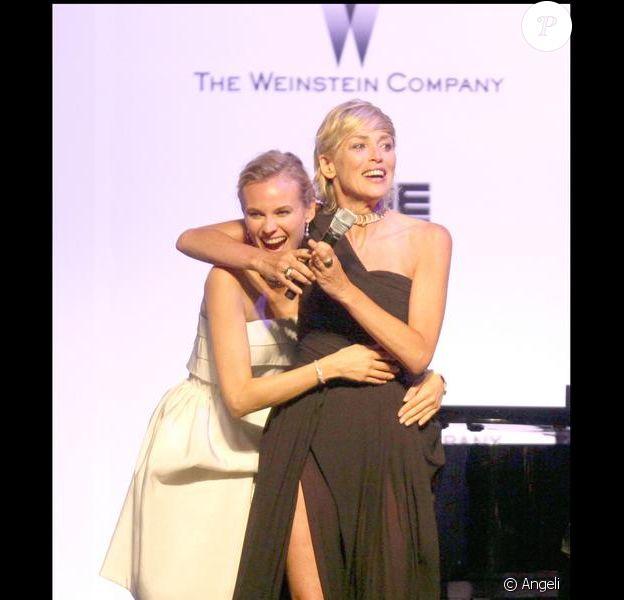 Sharon Stone et Diane Kruger au gala de l'amfAR. 21/05/09