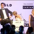 Sharon Stone, Diane Kruger et Joshua Jackson au gala de l'amfAR. 21/05/09