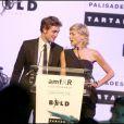 Robert Pattinson et Sharon Stone au gala de l'amfAR. 21/05/09
