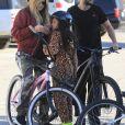 Heidi Klum fait un balade avec son fiancé Tom Kaulitz et trois de ses enfants à Santa Monica le 29 décembre 2018.