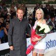 Jenson Button avec Petra Ecclestone, fille du grand argentier de la F1 Bernie Ecclestone, lors du Amber Fashion Show and Auction au Meridien Beach Plaza Hotel de Monaco le 22 mai 2009