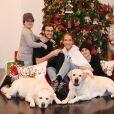 Céline Dion et ses fils prennent la pose pour Noël. Las Vegas, décembre 2018
