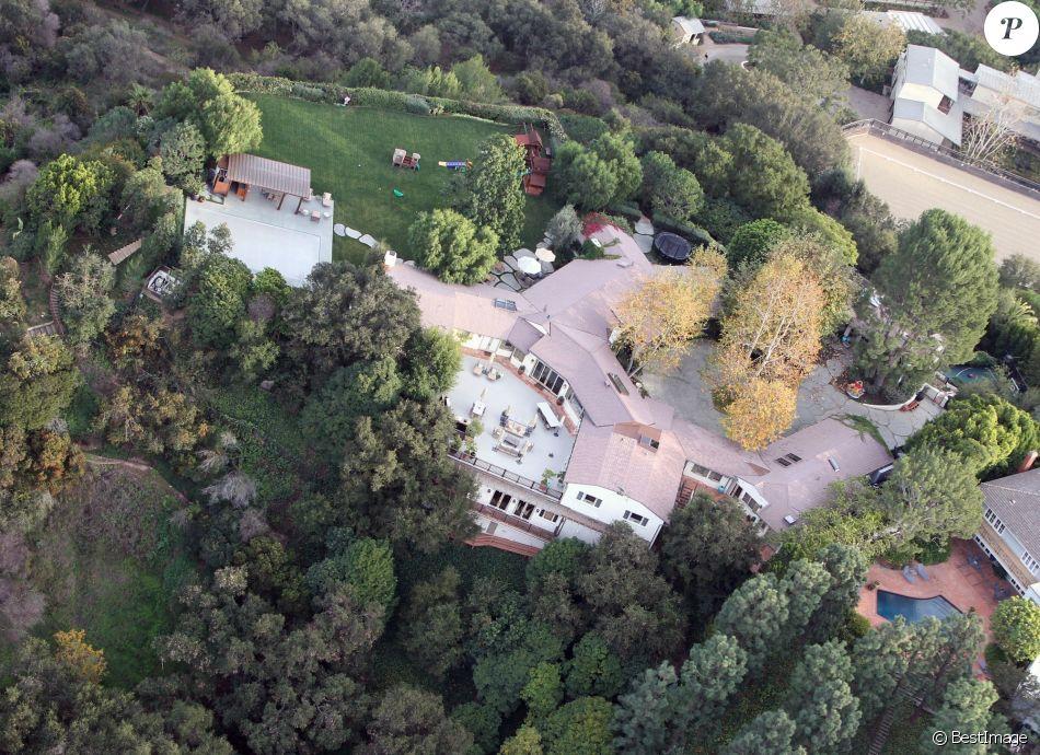 Vue aérienne de la maison de Ben Affleck et Jennifer Garner, à Los Angeles.