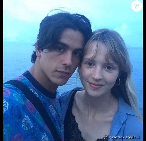 Angèle et son amoureux le danseur Léo Walk en mode selfie, sur Instagram, en janvier 2018