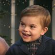 Image extraite de la vidéo de la princesse héritière Victoria et du prince Daniel de Suède avec leurs enfants la princesse Leonore et le prince Oscar, qui a chanté des chants de Noël, pour les fêtes de fin d'année 2018.