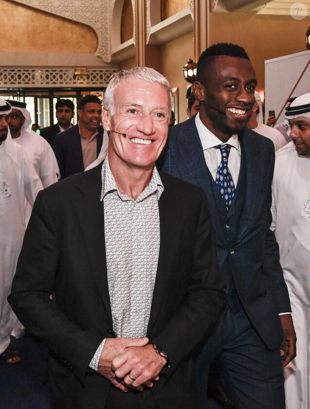 Didier Deschamps et Blaise Matuidi lors de la 13e édition de la Dubai International Sports Conference le 2 janvier 2019.