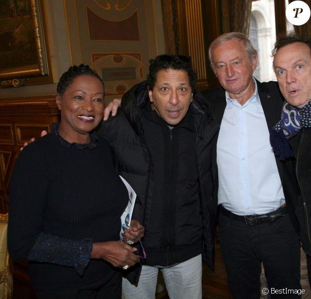 Babette de Rozières, Smaïn, Yann Queffélec et Julien Lepers - 4ème salon de la gastronomie des outre-mer et de la francophonie à Paris le 9 janvier 2019.