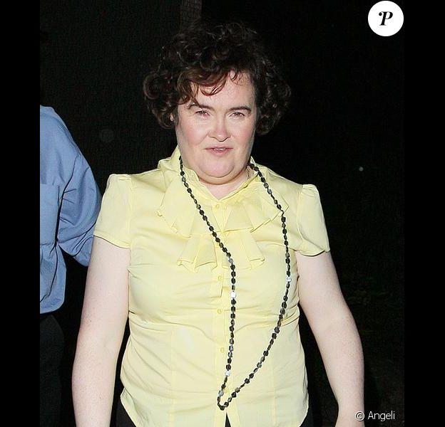 Susan Boyle à la sortie de la demi-finale de Britain's Got Talent le 24 mai 2009