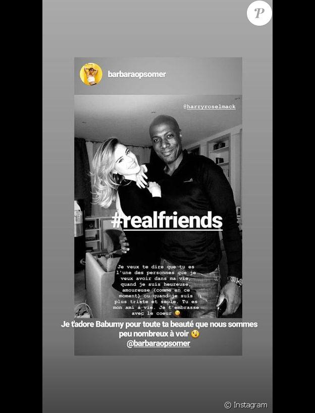 Harry Roselmack et Barbara Opsomer amis - Instagram, 15 janvier 2019