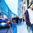 Chris Brown à Paris. Janvier 2019.