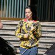 Exclusif - Beatriz Luengo (série Un, dos, tres) quitte son hôtel en tenue décontractée à Barcelone le 22 novembre 2018.