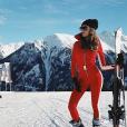 Nabilla au ski en Autriche, le 20 janvier 2019.