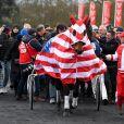 98ème édition du Grand Prix d'Amérique à l'hippodrome de Vincennes le 27 janvier 2019. Les recettes des entrées du jour sur l'hippodrome seront reversées à l'association SOS Autisme France. © Lionel Urman/Bestimage