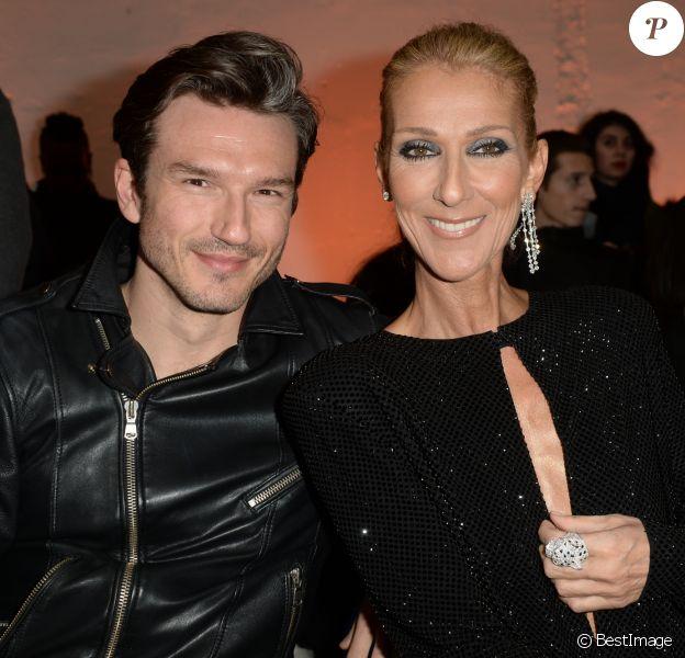 """Céline Dion, Pepe Munoz au défilé de mode Haute-Couture printemps-été 2019 """"Alexandre Vauthier"""" à Paris. Le 22 janvier 2019 © CVS-Veeren / Bestimage"""