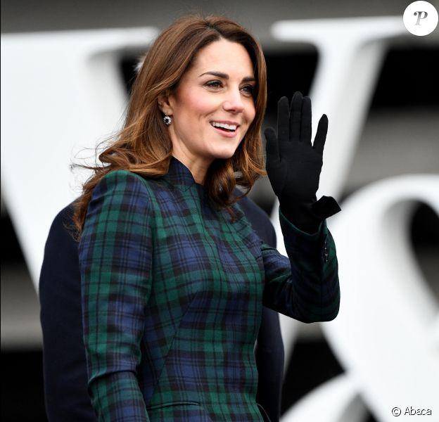 """Le prince William, duc de Cambridge, et Kate Catherine Middleton, duchesse de Cambridge, inaugurent officiellement le musée de design """"Victoria and Albert Museum Dundee"""" à Dundee en Ecosse, le 29 janvier 2019."""