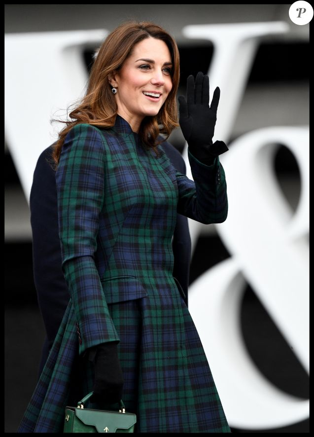 "Le prince William, duc de Cambridge, et Kate Catherine Middleton, duchesse de Cambridge, inaugurent officiellement le musée de design ""Victoria and Albert Museum Dundee"" à Dundee en Ecosse, le 29 janvier 2019."