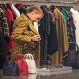 Celine Dion fait du shopping chez Balenciaga à Paris le 1er février 2019.