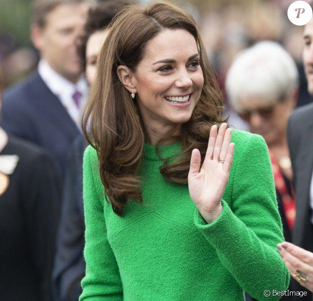 """Catherine (Kate) Middleton, duchesse de Cambridge visite l'école primaire """"Lavender"""" à Londres le 5 février 2019."""