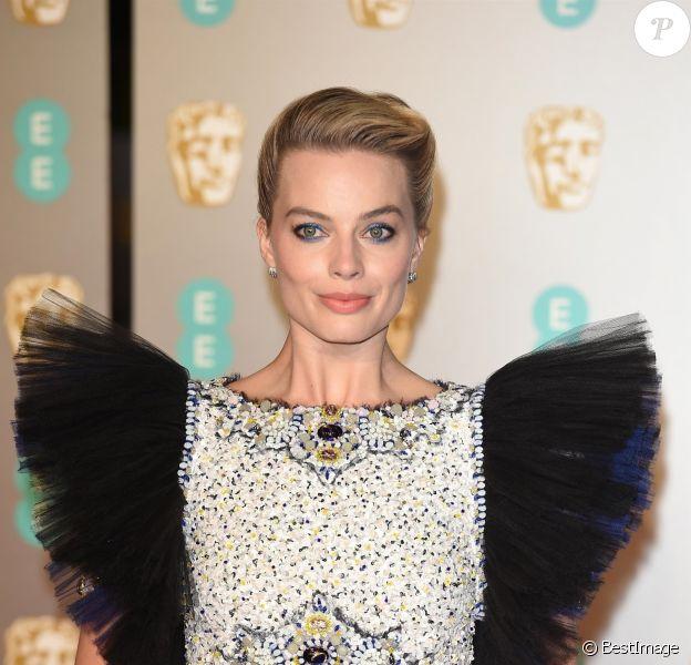 Margot Robbie en Chanel Haute Couture - 72ème cérémonie annuelle des BAFTA Awards au Royal Albert Hall à Londres, le 10 février 2019.