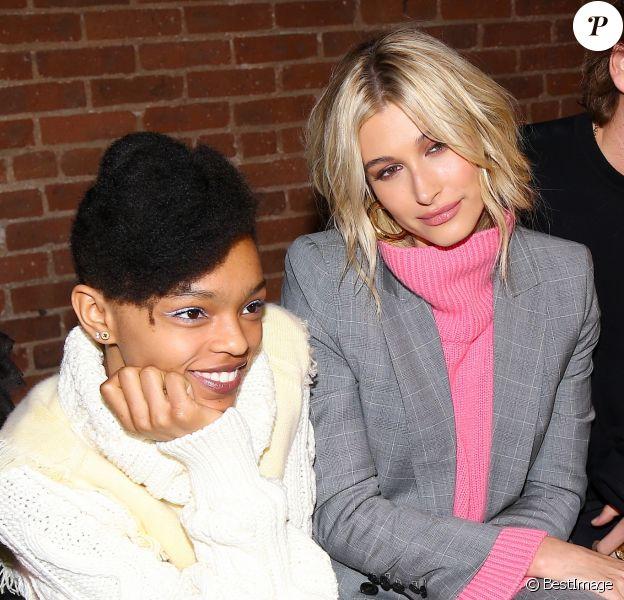 Selah Marley, Hailey Baldwin Bieber et Jordan Barrett - Les célébrités assistent au défilé de mode Zadig&Voltaire lors de la Fashion Week à New York, le 11 février 2019.