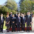 Le roi Felipe VI d'Espagne et la reine Letizia rencontrent les employés de l'ambassade d'Espagne à Rabat, Maroc le 14 février 2019.  King Felipe and Queen Letizia meet Moroccan writers at the residence of the spanish ambassador. Rabat - February 14, 201914/02/2019 - Rabat